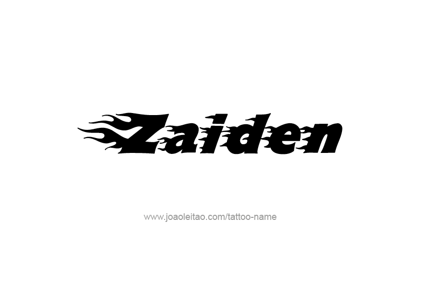 Tattoo Design  Name Zaiden