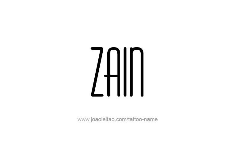 Tattoo Design  Name Zain