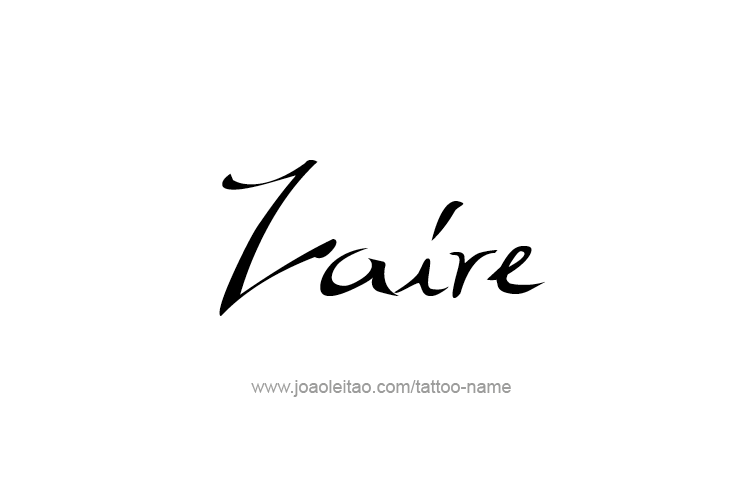 Tattoo Design  Name Zaire