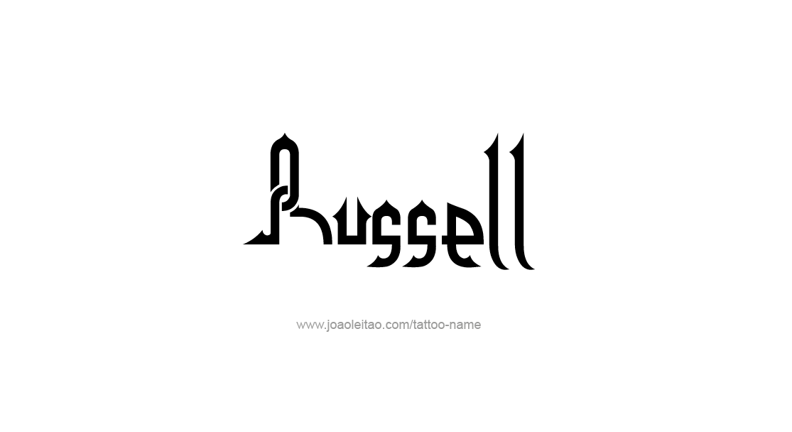 Tattoo Design  Name Russell