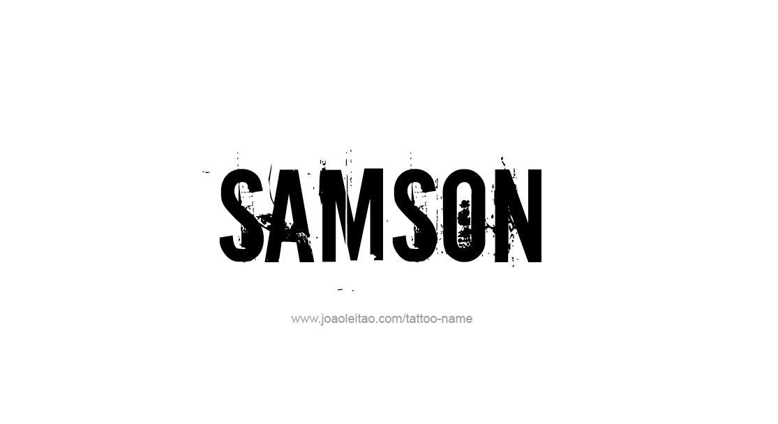 Tattoo Design  Name Samson