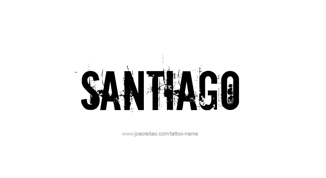 Tattoo Design  Name Santiago