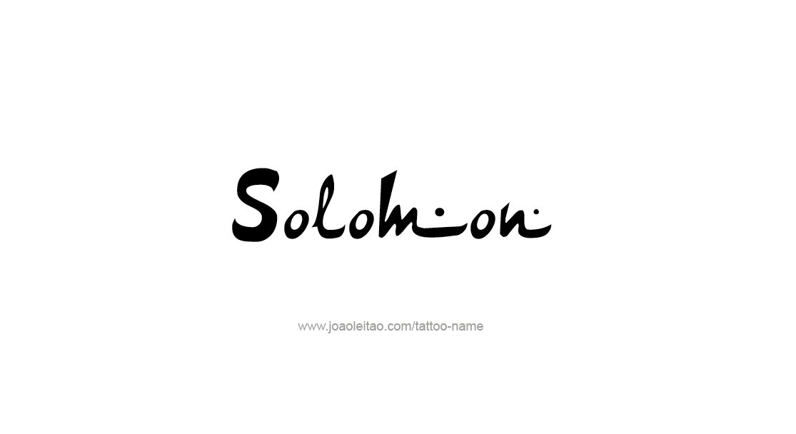 Tattoo Design  Name Solomon