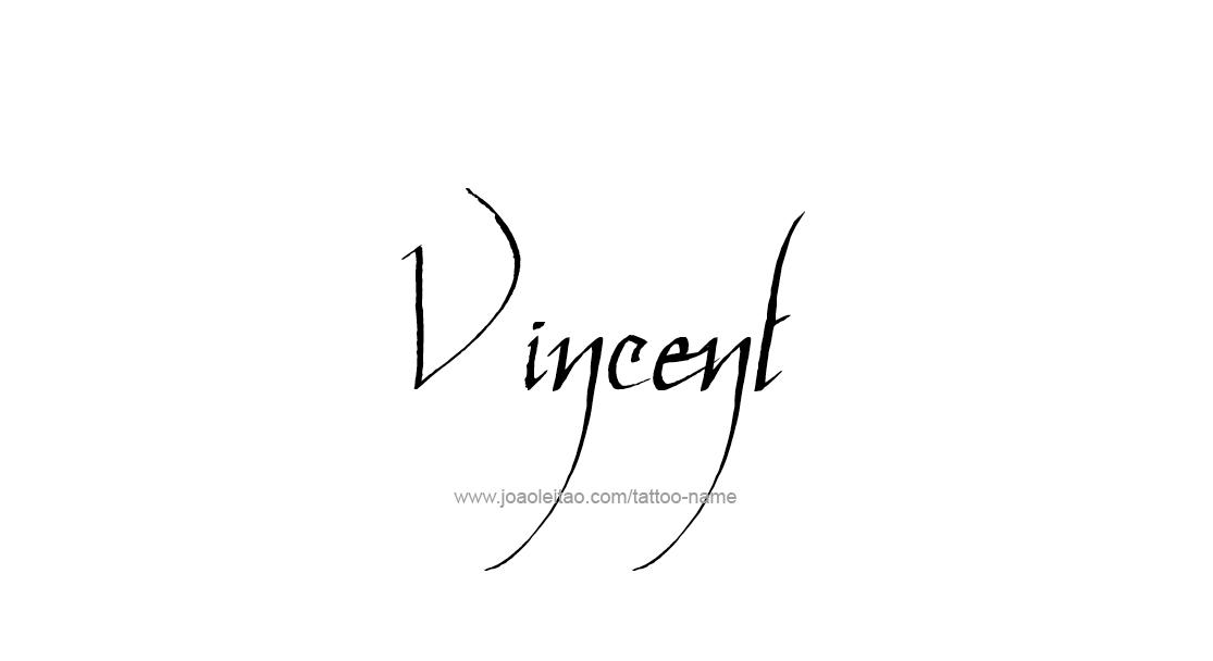 Vincent Name Tattoo Designs