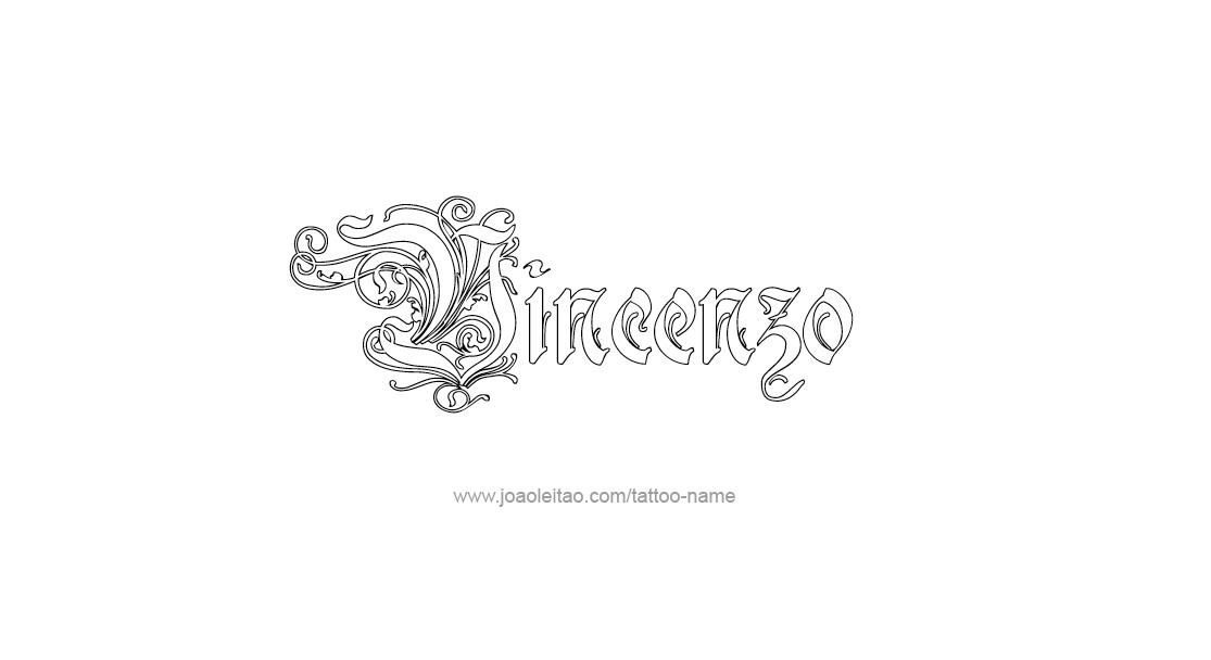 Tattoo Design  Name Vincenzo