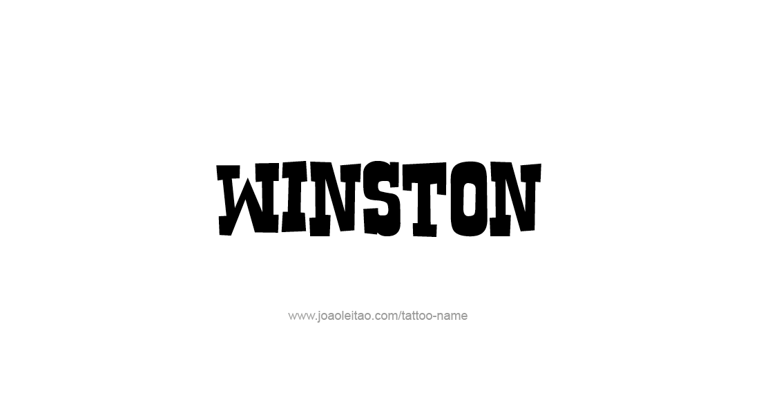 Tattoo Design  Name Winston
