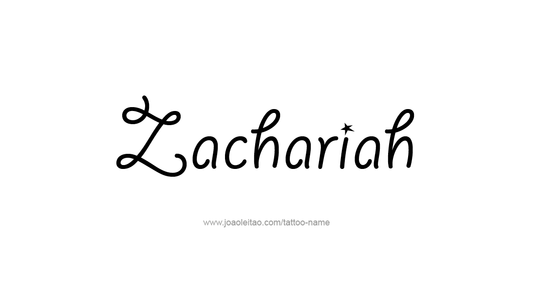 Tattoo Design  Name Zachariah
