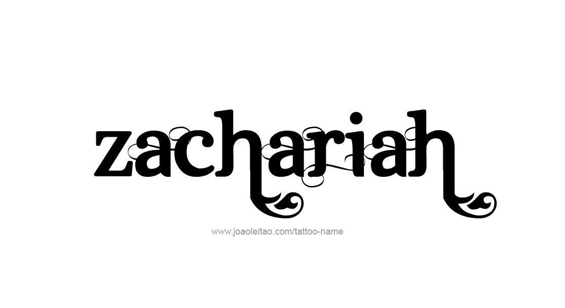Tattoo Design  Name Zachariah