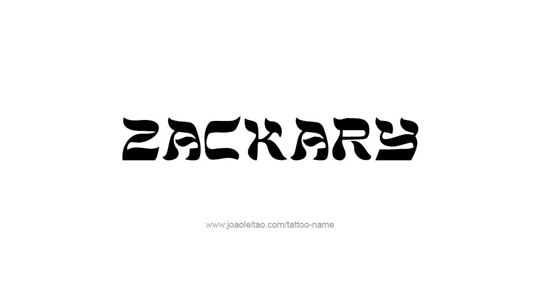 Tattoo Design  Name Zackary
