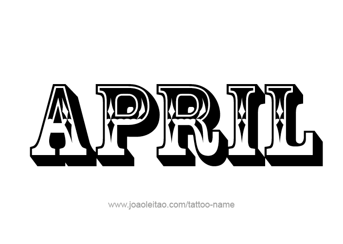 April Month Name Tattoo Designs Tattoos With Names