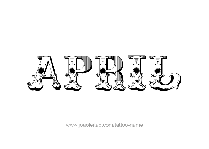 April name. Month tattoo designs page