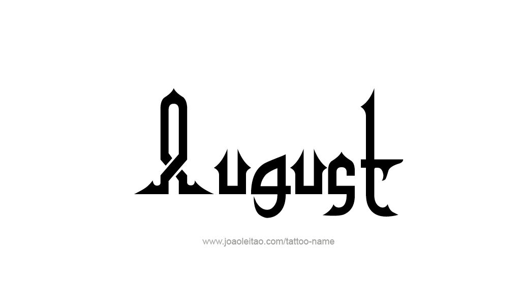 Tattoo Design Name August