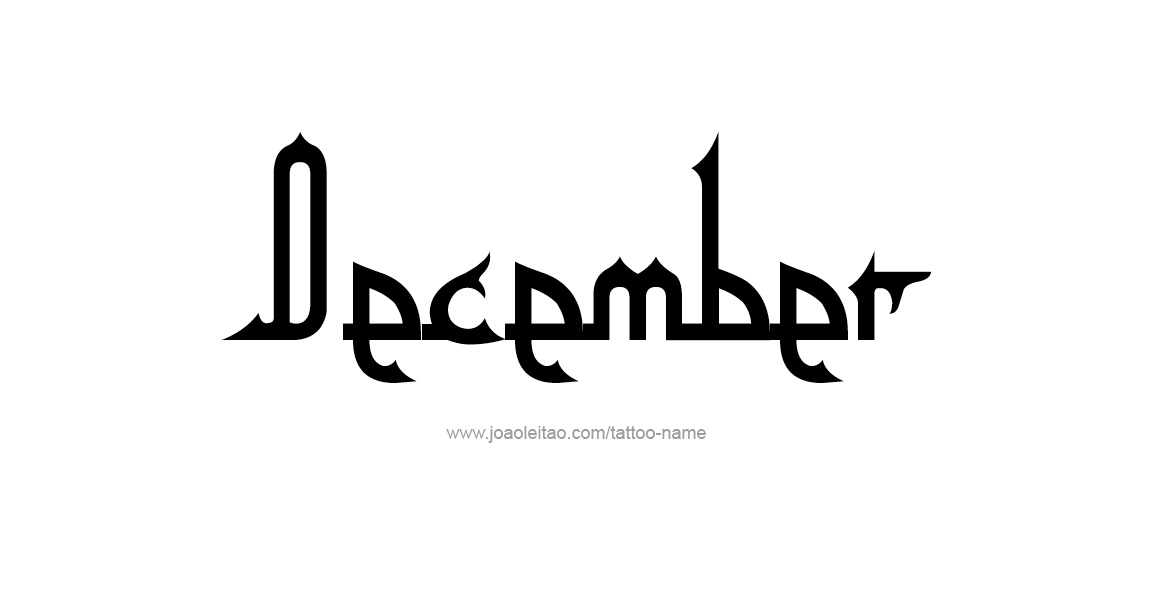 Tattoo Design Name December