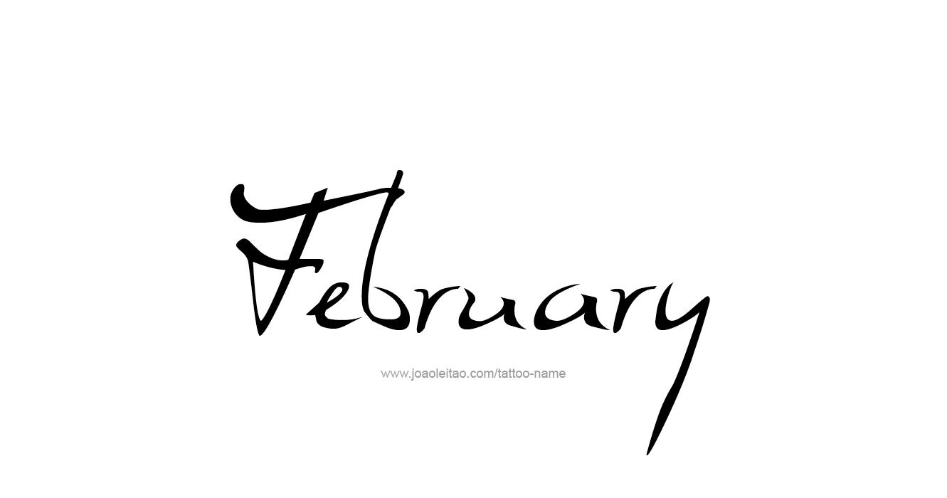 Tattoo Design Name February