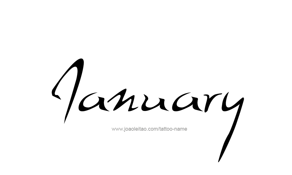 January Month Name Tattoo Designs - Tattoos with Names