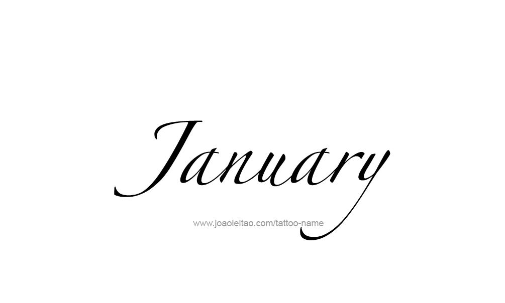 Tattoo Design Name January