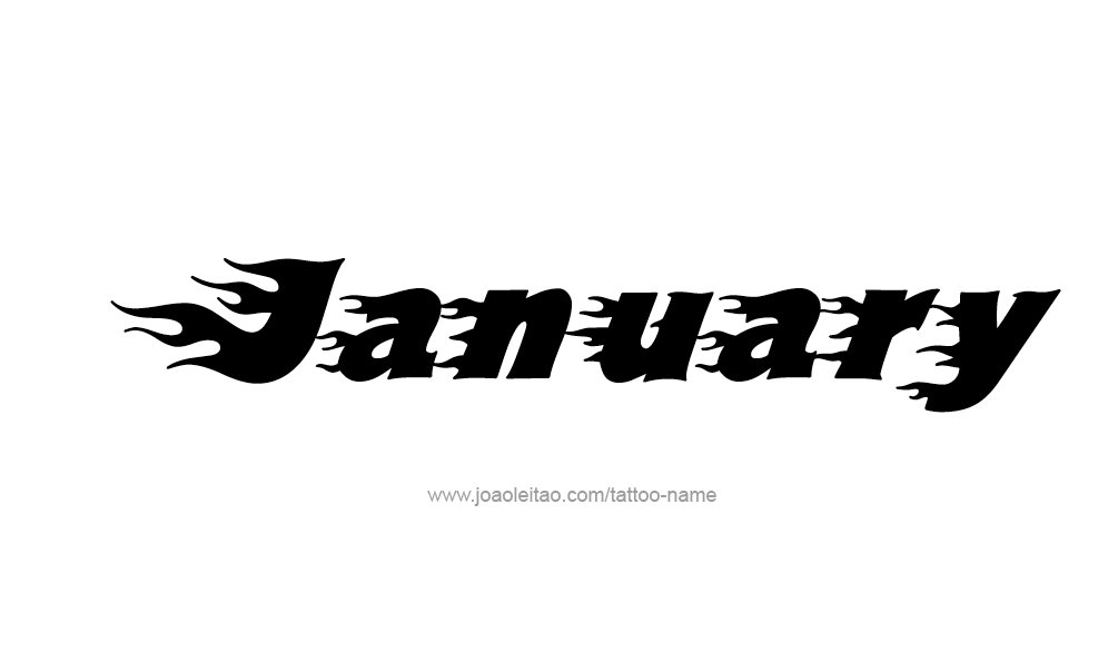 January Month Name Tattoo Designs - Page 3 of 5 - Tattoos