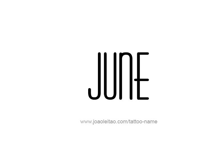 Tattoo Design Name June