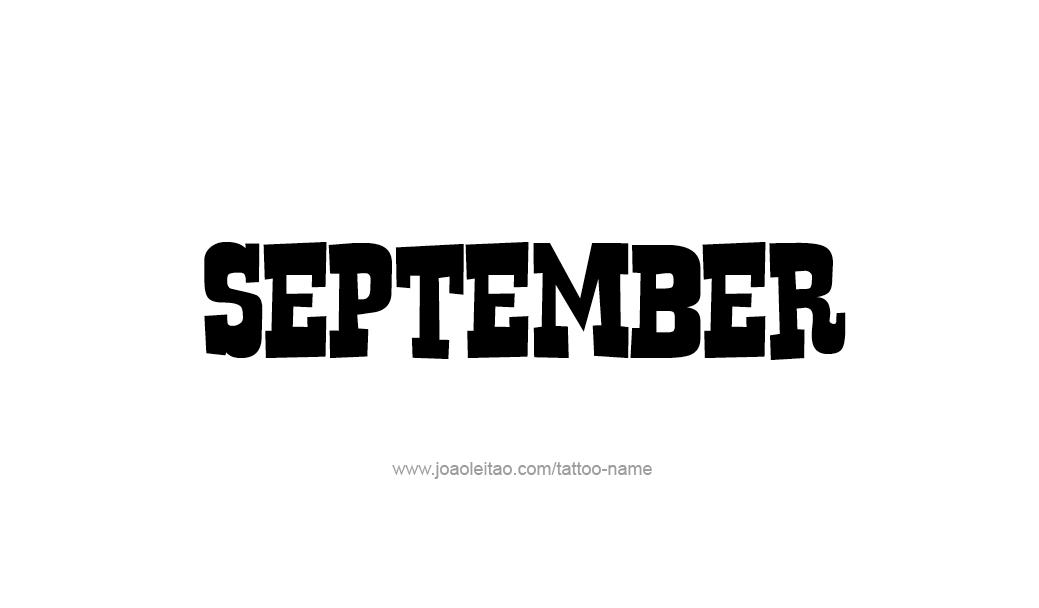 Tattoo Design Name September