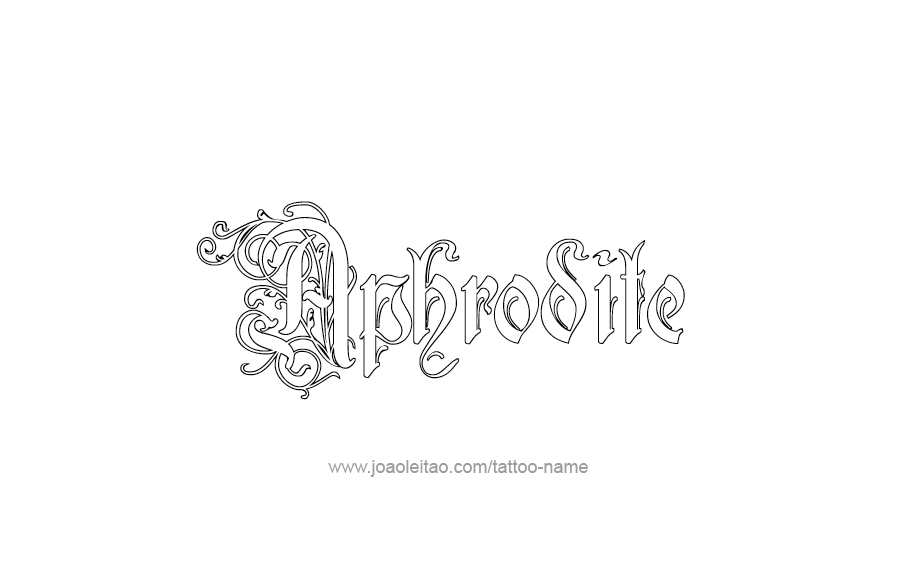 Aphrodite Mythology Name Tattoo Designs Page 3 Of 5