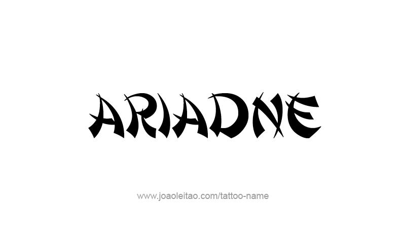 Tattoo Design Mythology Name Ariadne