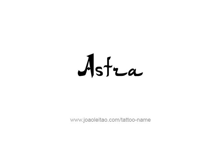 Tattoo Design Mythology Name Astra
