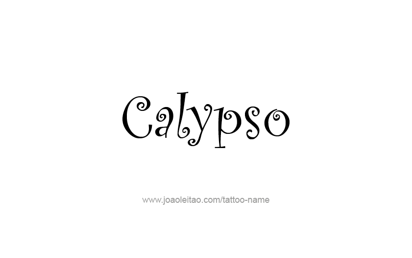 Tattoo Design Mythology Name Calypso