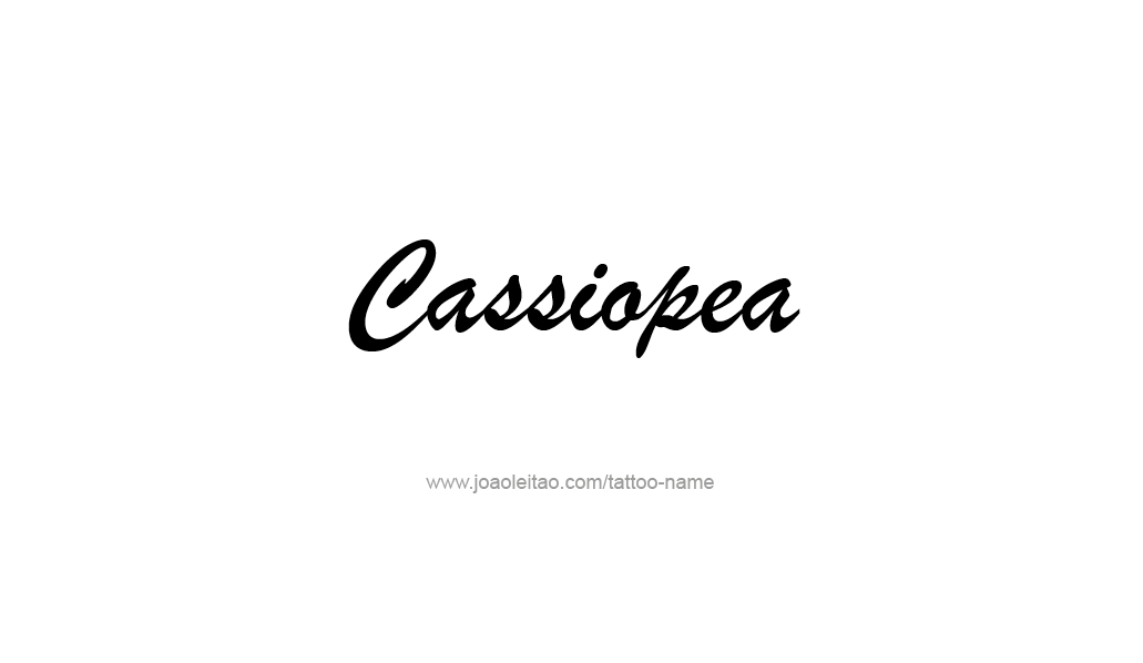 Tattoo Design Mythology Name Cassiopea