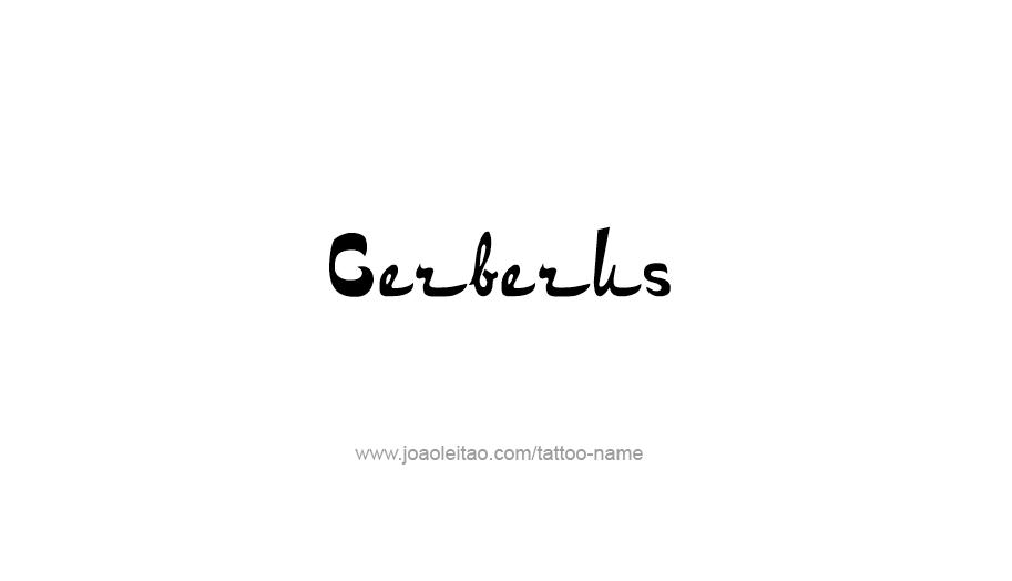 Tattoo Design Mythology Name Cerberus