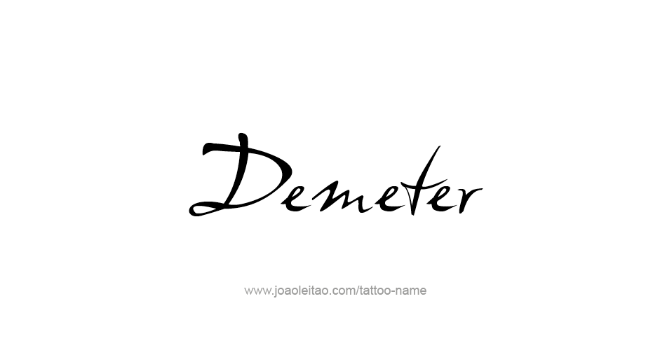 Tattoo Design Mythology Name Demeter