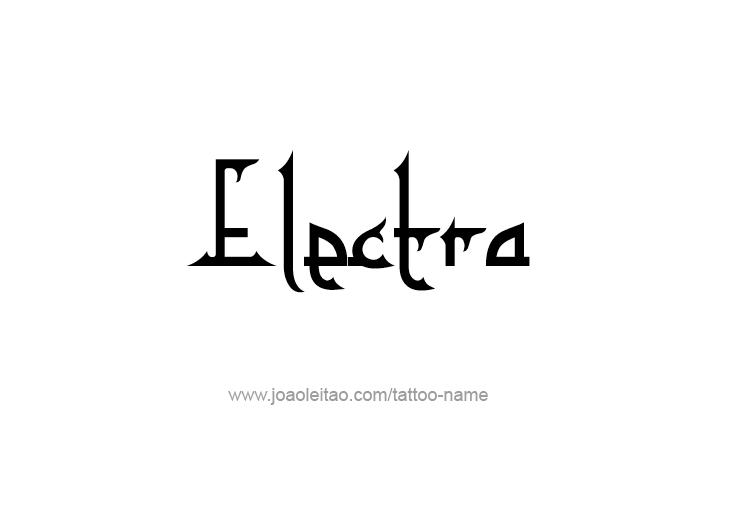 Tattoo Design Mythology Name Electra