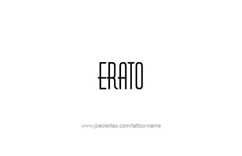 Tattoo Design Mythology Name Erato