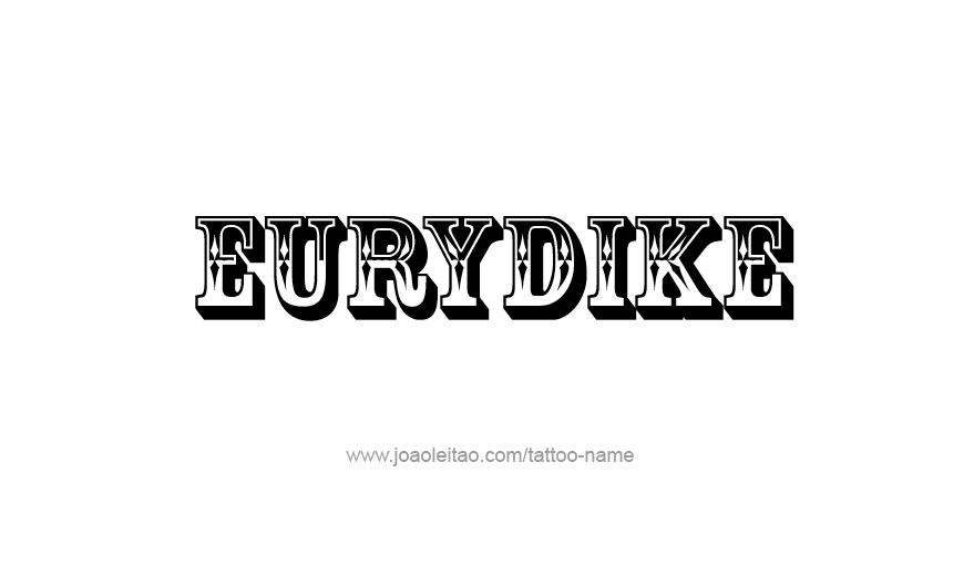 Tattoo Design Mythology Name Eurydike