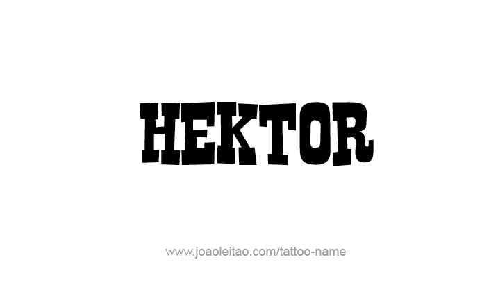 Tattoo Design Mythology Name Hektor