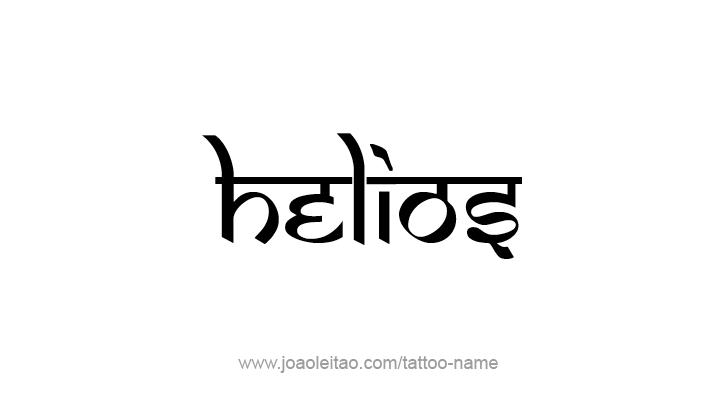 Tattoo Design Mythology Name Helios