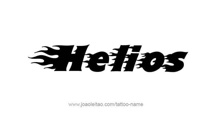 Tattoo Design Mythology Name Helios
