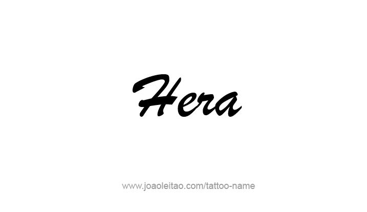 Tattoo Design Mythology Name Hera