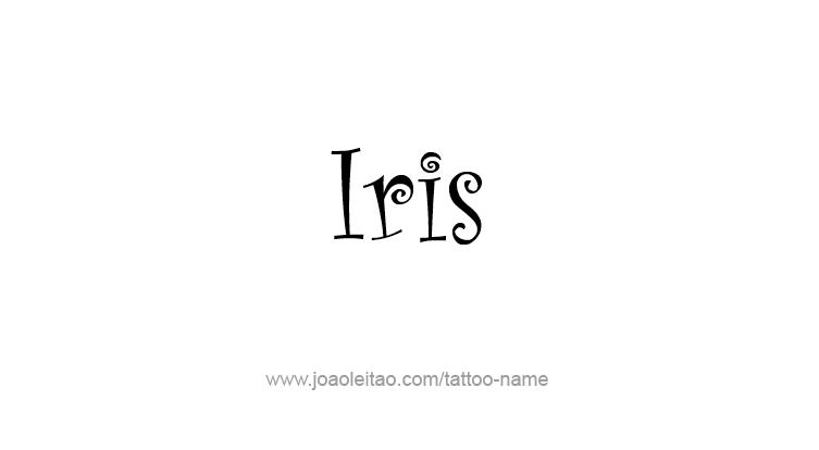 Tattoo Design Mythology Name Iris
