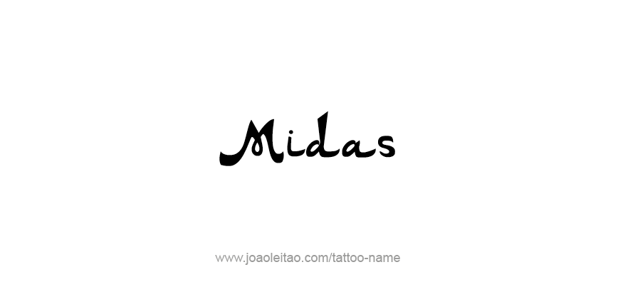 Tattoo Design Mythology Name Midas
