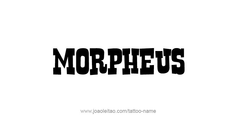 Tattoo Design Mythology Name Morpheus