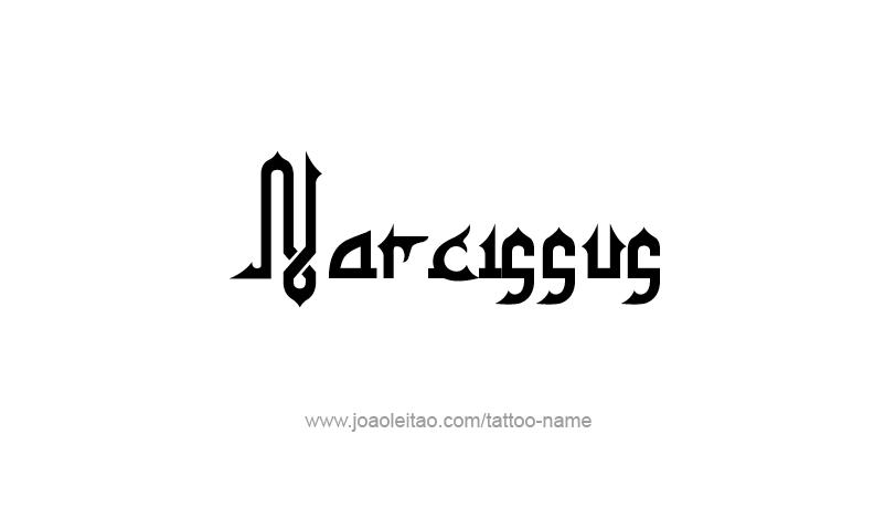 Tattoo Design Mythology Name Narcissus