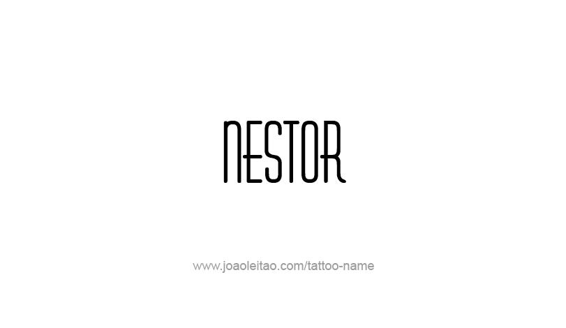 Tattoo Design Mythology Name Nestor