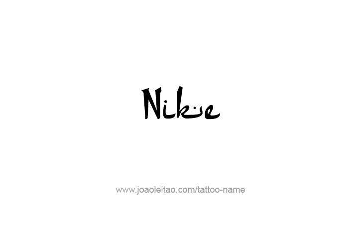 Tattoo Design Mythology Name Nike