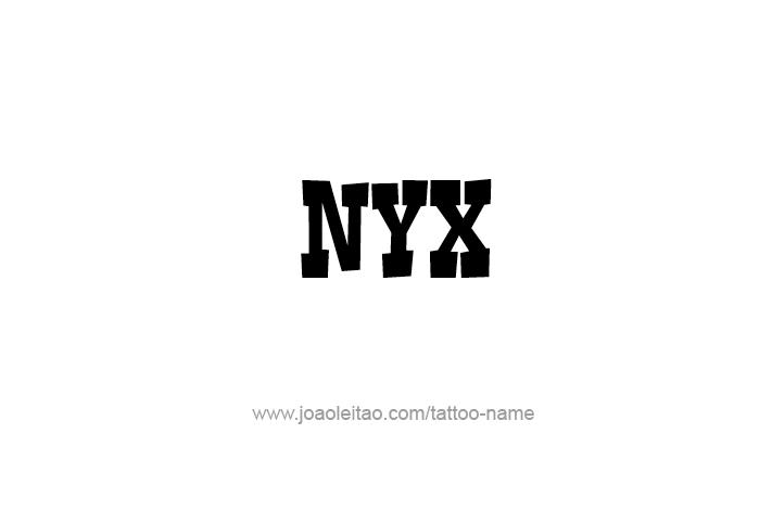 Tattoo Design Mythology Name Nyx