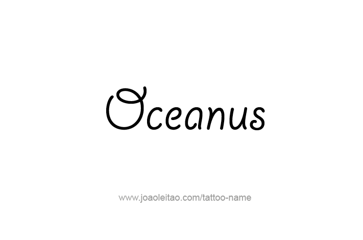 Tattoo Design Mythology Name Oceanus