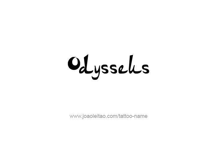 Tattoo Design Mythology Name Odysseus