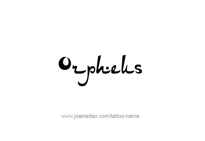Tattoo Design Mythology Name Orpheus