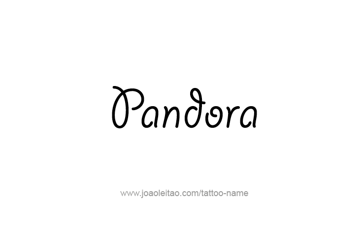 Tattoo Design Mythology Name Pandora