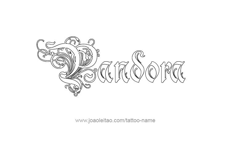 Tattoo Design Mythology Name Pandora