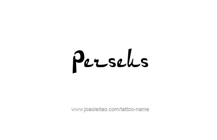 Tattoo Design Mythology Name Perseus